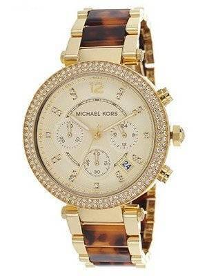Michael Kors Parker Chronograph Crystal Tortoiseshell MK5688 Women's Watch