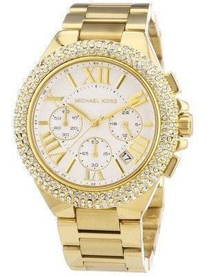 Michael Kors Camille Chronograph Gold-Tone Crystals MK5756 Women's Watch
