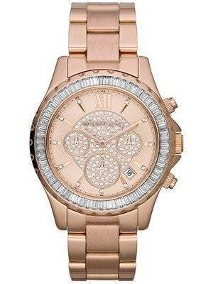 Michael Kors Madison Rose Gold Crystal Chronograph MK5811 Women's Watch