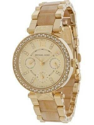 Michael Kors Parker Horn Acetate Multi-Function MK5842 Women's Watch