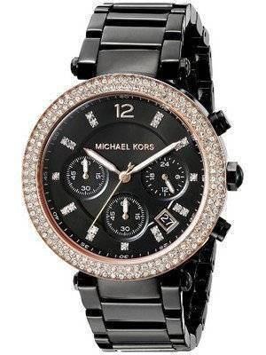 Michael Kors Parker Chronograph Black Dial MK5885 Women's Watch