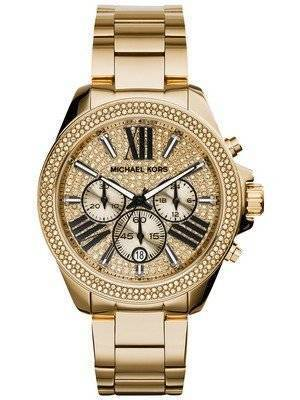 Michael Kors Wren Chronograph Crystal Pave Dial MK6095 Women's Watch