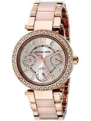Michael Kors Parker Mini Multi-Function Rose Dial MK6110 Women's Watch