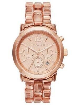 Michael Kors Audrina Chronograph Rose Dial MK6203 Women's Watch