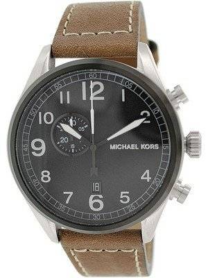 Michael Kors Hanger Black Dial Brown Leather MK7068 Men's Watch