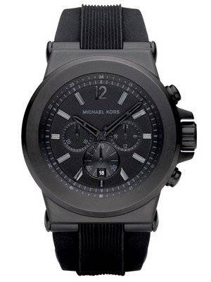 michael kors schwarz silikon armband mk8152 herren uhr de. Black Bedroom Furniture Sets. Home Design Ideas