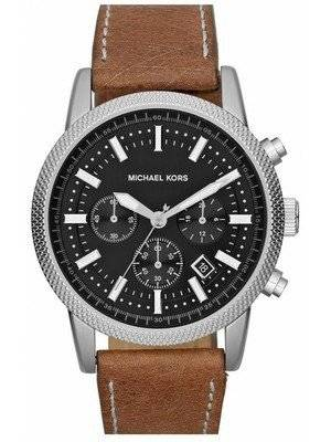 Michael Kors Scout Chronograph Black Dial Brown Leather MK8309 Men's Watch
