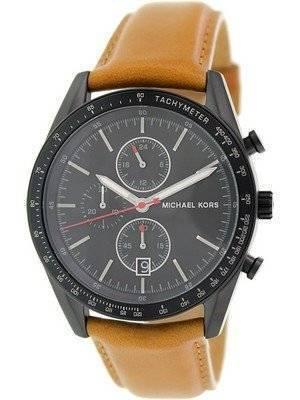 Michael Kors Accelerator Chronograph Tan Leather Strap MK8385 Men's Watch