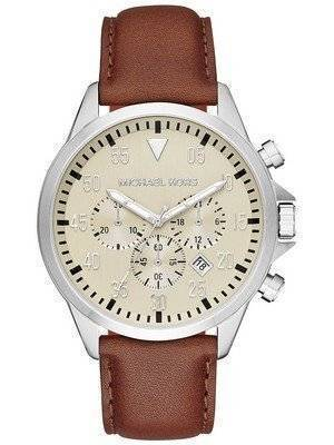 Michael Kors Gage Beige Dial Chronograph MK8441 Men's Watch