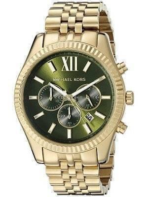 Michael Kors Lexington Chronograph Green Dial MK8446 Men's Watch