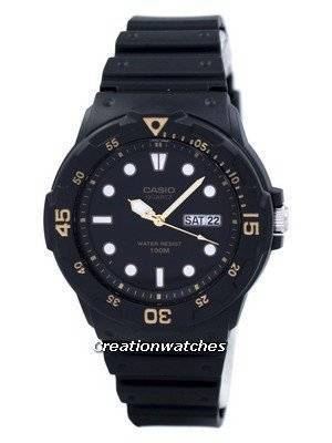 Casio Quartz Analog 100M Black Resin Strap MRW-200H-1EVDF MRW200H-1EVDF Men's Watch