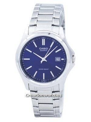 Casio Quartz Analog Stainless Steel Blue Dial MTP-1183A-2ADF MTP-1183A-2A Men's Watch