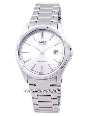 Casio Quartz Analog Stainless Steel Silver Dial MTP-1183A-7ADF MTP-1183A-7A Men's Watch
