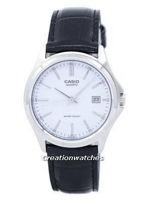 Casio Quartz Analog White Dial Black Leather MTP-1183E-7ADF MTP-1183E-7A Men's Watch