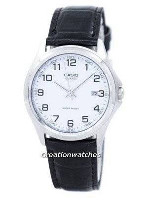 Casio Quartz Analog White Dial Black Leather MTP-1183E-7BDF MTP-1183E-7B Men's Watch