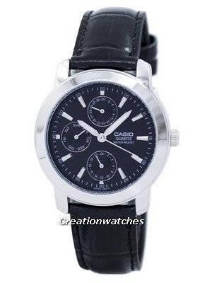 Casio Enticer Quartz Multi Dial Leather Strap MTP-1192E-1ADF MTP-1192E-1A Men's Watch