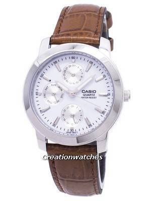 Casio Enticer Quartz Multi Dial Leather Strap MTP-1192E-7ADF MTP-1192E-7A Men's Watch