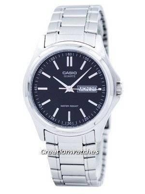 Casio Enticer Quartz Analog Black Dial MTP-1239D-1ADF MTP-1239D-1A Men's Watch