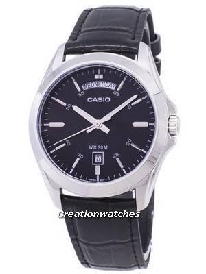 Casio Analog Black Dial MTP-1370L-1AVDF MTP-1370L-1AV Men's Watch