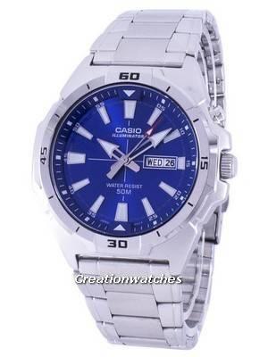 Casio Illuminator Analog Quartz MTP-E203D-2AV MTPE203D-2AV Men's Watch