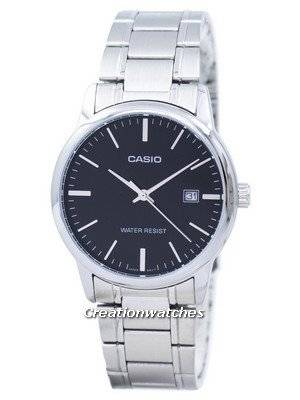 Casio Analog Stainless Steel Black Dial MTP-V002D-1AUDF MTP-V002D-1AU Men's Watch