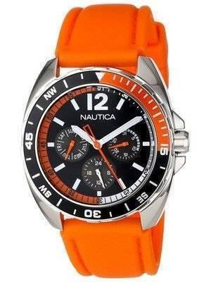 Nautica Orange Sport Ring Multifunction N09908G Men's Watch