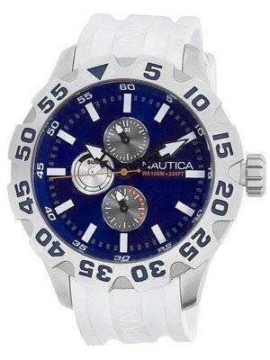 Nautica BFD 100 Multifunction N15567G Blue Dial Mens Watch