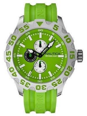 Nautica Resin Green Dial N15580G Men's Watch