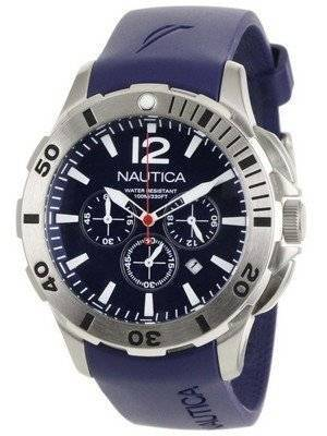 Nautica Chronograph Navy Blue Resin and Blue Dial N16565G Men's Watch