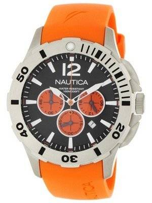 Nautica Chronograph Orange Resin and Black Dial N16567G Men's Watch
