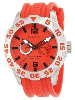 Nautica BFD 100 Red Dial N16602G Men's Watch