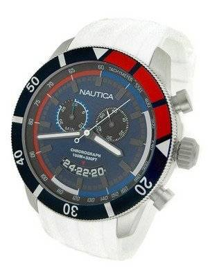 Nautica Chronograph Sporty White Resin Band N17585G Men's Watch