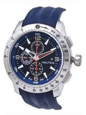 Nautica Men's N17592G NST 101 Navy Resin Navy Dial Watch