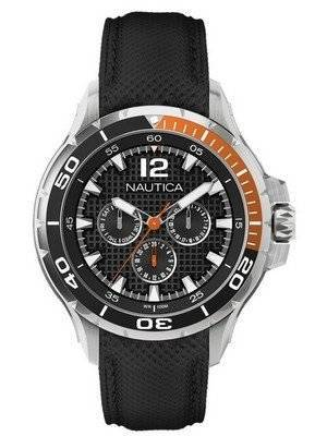 Nautica Multifunction Black Resin Strap N17612G Men's Watch