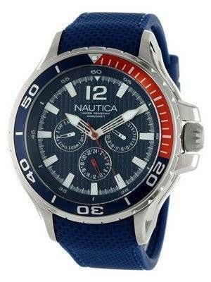 Nautica Multifunction Blue Resin Strap N17613G Men's Watch