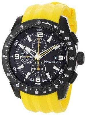 Nautica Chronograph Black Dial and Yellow Resin N18599G Men's Watch