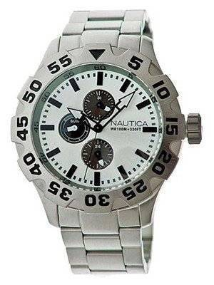 Nautica Multifunction Silver Dial N20094G Men's Watch