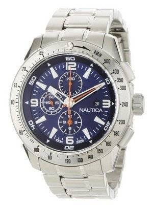 Nautica Chronograph Silver Dial N21523G Men's Watch