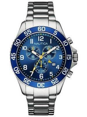 Nautica Chronograph Blue Dial Date Display NAI17508G Men's Watch