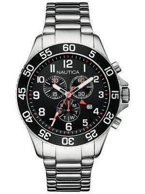Nautica Chronograph Black Dial Date Display NAI17509G Men's Watch
