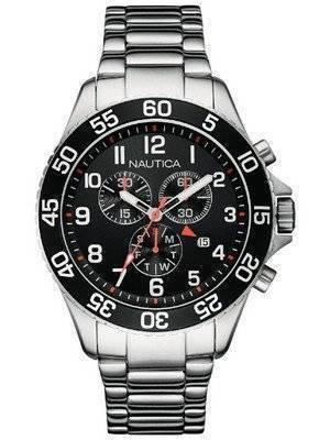 Nautica Chronograph Black Dial Date Display NAI17509G Men\'s Watch