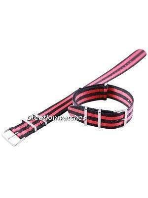 Red And Black Nato Strap 22mm