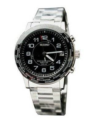 Seiko World Time Solar Power SBFT009 Radio Control Japan Made Watch