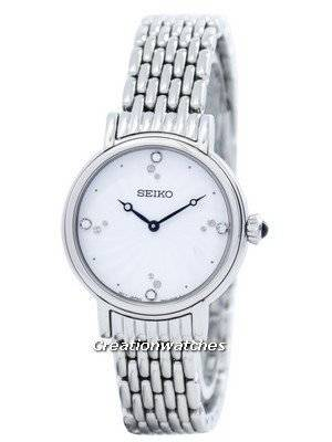 Seiko Quartz Swarovski Crystals SFQ805 SFQ805P1 SFQ805P Women's Watch