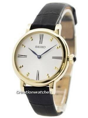 Seiko Quartz Leather Strap SFQ814P2 Women's Watch