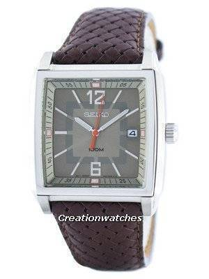 Seiko Quartz Square Shape SGED77 SGED77P1 SGED77P Men's Watch
