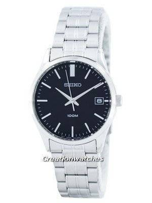 Seiko Quartz Black Dial SGEF01 SGEF01P1 SGEF01P Men's Watch