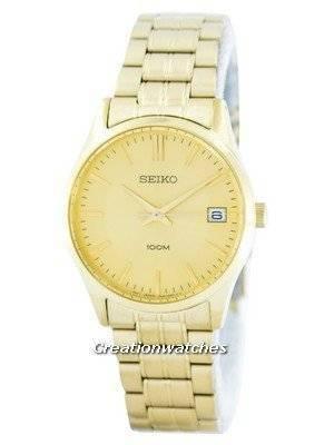 Seiko Quartz Analog Gold Tone SGEF04 SGEF04P1 SGEF04P Men's Watch