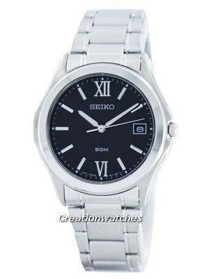 Seiko Quartz Analog Black Dial SGEF21 SGEF21P1 SGEF21P Men's Watch
