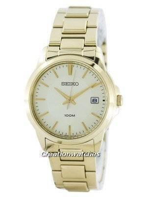 Seiko Quartz Analog Gold Tone SGEF58 SGEF58P1 SGEF58P Men's Watch